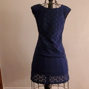 Connected Navy Blue Lace Dress 6
